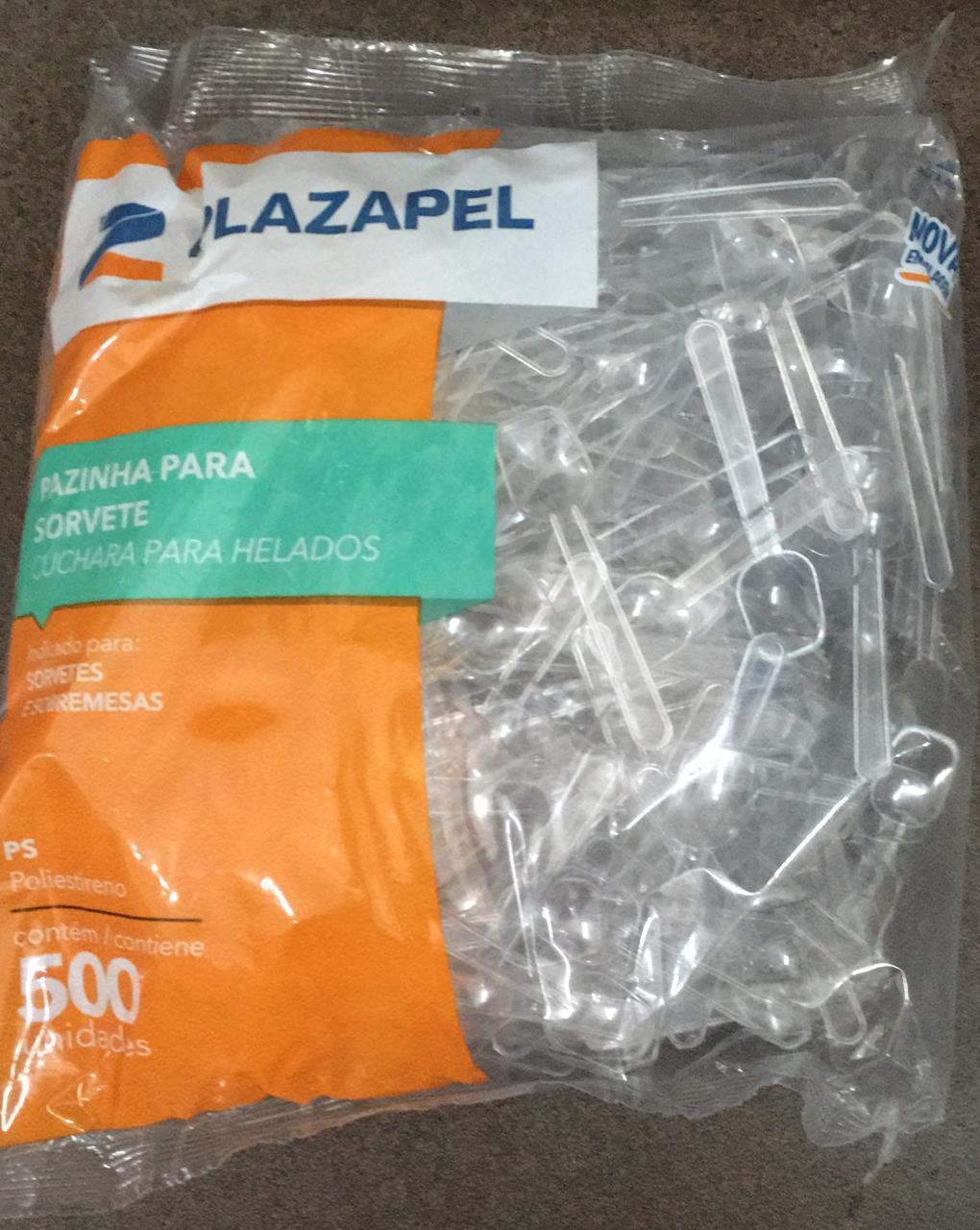 PAZINHA PLASTICA CRISTAL  PCT 500 UND PLAZAPEL