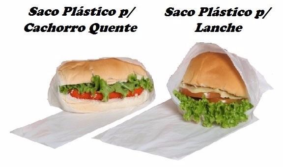 SACOS PLÁSTICOS PARA LANCHE